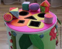 """Vzdělávací hračky ruční práce.  Fair Masters - handmade Rozvoj třídič-track """"na louce"""".  Ruční."""