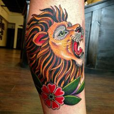 Traditional Lion Head Tattoo Works minerva tattoos