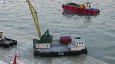 CVP - Rc Tug Boat DE & Crane Barge