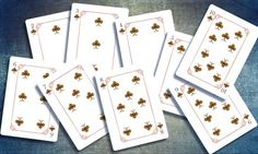 The Four Seasons Playing Cards by Ace Collectable Cards. Printed by EPCC. Autumn (clubs) pip cards.