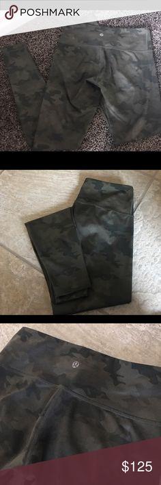 EUC ✨Lululemon Camo Leggings✨ EUC Lululemon Camo full length Leggings ... barely worn, fabulous like new condition lululemon athletica Pants Leggings