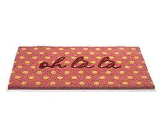 Kokos-Fußmatte Oh La La, 44 x 74 cm