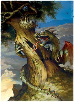 """Stanislav Plutenko :: Illustrations Illustrations for the children's tale book """"Melikmamed""""."""