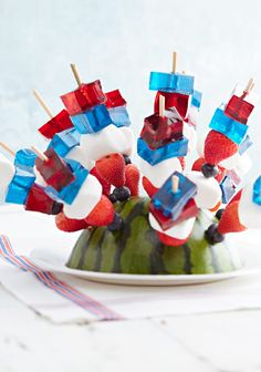 JELL-O JIGGLERS Skewers – Why choose between fun and delicious when you could have both in the same dessert? These berry-licious JELL-O skewers will bring out the kid in everyone.