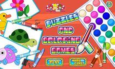 Ułóż puzzle, a następnie pokoloruj złożony obrazek różnymi kolorami farbek! http://www.ubieranki.eu/gry/3682/puzzle-i-kolorowanki.html