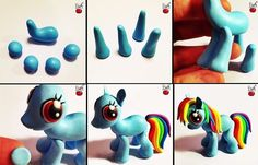 Make multiple My Little Pony charms and share them with your Bronies. | 19 Awesome Craft Projects You Can Make With Polymer Clay