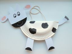 Cows made of paper plates | Crafts for toddlers | Pinterest | Farm theme Preschool farm theme and Preschool farm & Cows made of paper plates | Crafts for toddlers | Pinterest | Farm ...