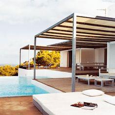 Pool with pergolas