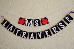 Teacher Banner  Name  Choose your colors by JKreations2013 on Etsy, $15.50