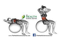 © Sasham | Dreamstime.com - Fitball exercising. Ball Crunch. Female