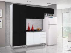 Cozinha Compacta Itatiaia Stilo com Balcão - 9 Portas 3 Gavetas