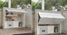 Outdoor Kitchen Design Ideas…what a great idea! What do you think