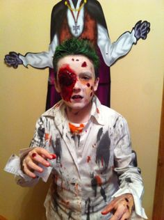 halloween costume scary zombie make up spooky eye gone school boy awesome home made bloody