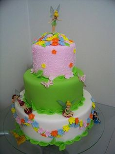 Tinkerbell - Cake...this looks fairly easy! Right?