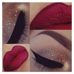 Sparkling Holiday Combos ❤ liked on Polyvore featuring beauty products, makeup, eye makeup and palette makeup