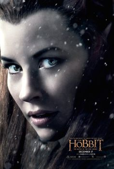 Character poster, Evangeline Lilly as Tauriel for #TheHobbit: The Battle of the Five Armies #Tauriel #OneLastTime