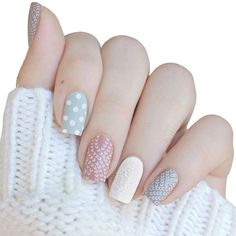 Cozy sweater nails by ❄️😍 Holiday Nail Designs, Nail Designs Spring, Holiday Nails, Pretty Nail Designs, Pretty Nail Art, Nail Art Designs, Pink Nails, Glitter Nails, Nails For Kids