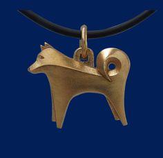 Pendant, Finnish spitz. National dog breed of Finland. Design Sami Viitasaari.