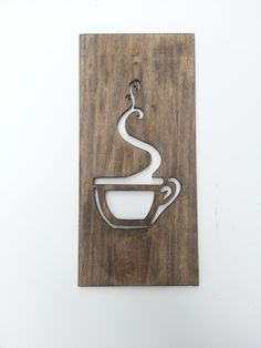 Kitchen Art Coffee Sign Modern Wood Home Decor by TimberArtSigns