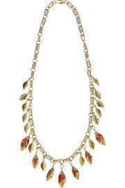 Aurélie BidermannMonteroso gold-plated necklace