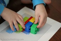 Make your own lego book for the kids to do puzzles with. - My lego/puzzle loving kids would think this is awesome Kindergarten Fun, Preschool Curriculum, Montessori Activities, Preschool Learning, Craft Activities For Kids, Preschool Activities, Teaching Kids, Time Activities, Creative Activities