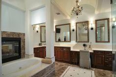 It won't be a problem getting ready in this elegant bathroom.