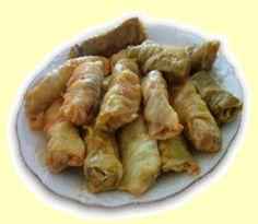 Serbian Food. Sarma. Serbian stuffed cabbage.