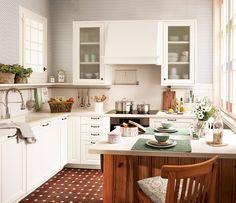 Una cocina pequeña... ¡y perfecta! · ElMueble.com · Cocinas y baños
