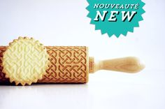 CELTIC KNOT   Embossing rolling pin laser by ValekRollingPins
