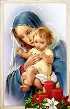 Maria y Jesus Jesus And Mary Pictures, Mary And Jesus, Christian Artwork, Christian Images, Blessed Mother Mary, Blessed Virgin Mary, Catholic Art, Religious Art, Catholic Online