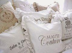 Cutepinkstuff.com: Monogram Linen Blend Pillows