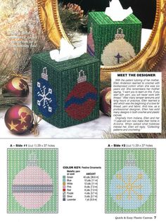 FESTIVE ORNAMENTS TISSUE COVER by ELLEN ANDERSON 1/2