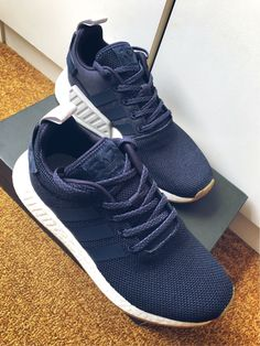 b7f073148270 Adidas NMD R2 Navy Boost sneakers
