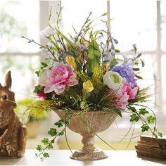 Hydrangea & Peony White Floral Arrangement   Kirkland's