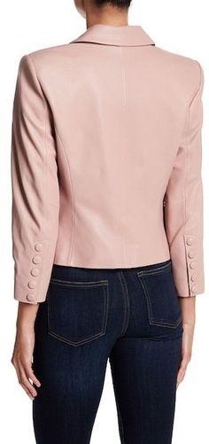 Bagatelle Leather Blazer Jacket