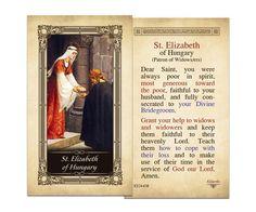 Elizabeth of Hungary Laminated Holy Card St, Kilgarlin holy card, St.