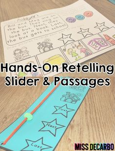 Retelling Slider - Hands on and visual! Perfect for small groups!