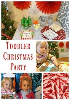 How to throw an easy Toddler Christmas Party. Decorations, food, crafts and activities for little ones. #ad