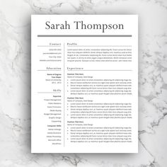 Free Classic And Elegant Resume Template For Ms Word Docx  Cv