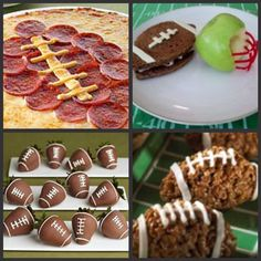 could make a cute cheese and cracker tray with the top left; the chocolate covered strawberries would be fun for any sports party and decorate accordingly