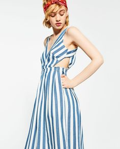 STRIPED DENIM DRESS-View All-DRESSES-WOMAN | ZARA United States