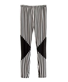 Monochrome Elastic Waist Leggings