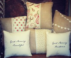 Loving all these sweet pillows! The Wiegand's