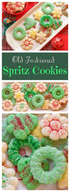 SpritzCookiesCollage-click on picture to get glaze recipe for these as well as the recipe for the cookies