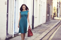 http://www.aliestreet.com/occasionwear/item/ASPSDKF/Pippa-Shift-Dress-(Kingfisher).html  Gorgeous, flattering jewel hues steal the limelight in our ultra sleek shift dress.  Our smart high waisted ponte roma shift dress skims over your waist in vibrant kingfisher blue jersey.