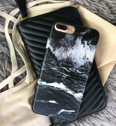Ready for those Summer nights ☀️ Black Marble Case for iPhone 7 & iPhone 7 Plus from Elemental Cases