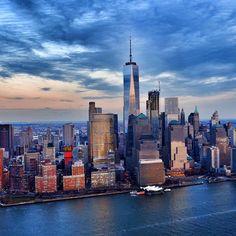 New York blues by @soniak5 from @wingsairheli  | newyork newyorkcity newyorkcityfeelings nyc brooklyn queens the bronx staten island manhattan