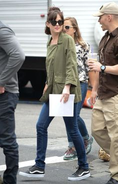 Dakota Johnson on How To Be Single Set - 17 June 2015