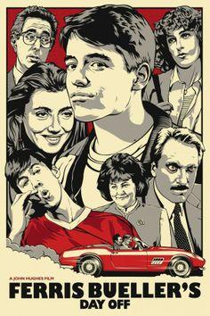 """Save Ferris"" - 24""x36"", 4-color screenprint."