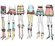 Bu Lago Millán ladies and dresses - fashion sketches